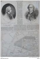 Daubenton - Buffon - Plan Du Jardin Du Luxembourg - Page Original 1865 - Historical Documents