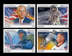 Guinea-Bissau 2020 Mih. 11111/14 Space. Astronaut Buzz Aldrin MNH ** - Guinea-Bissau