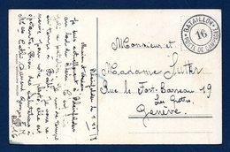 Suisse. Rheinfelden Mit Brücke Und Burgkastell. Franchise Bataillon 16 Poste De Campagne. 1918 - Military Post