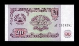 Tajikistan 20 Rublos 1994 Pick 4 SC UNC - Tadzjikistan