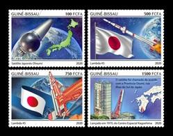 Guinea-Bissau 2020 Mih. 11116/19 Space. First Japanese Satellite Ohsumi MNH ** - Guinea-Bissau