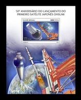 Guinea-Bissau 2020 Mih. 11120 (Bl.1909) Space. First Japanese Satellite Ohsumi MNH ** - Guinea-Bissau