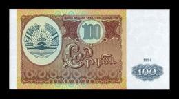 Tajikistan 100 Rubles 1994 Pick 6 SC UNC - Tayikistán