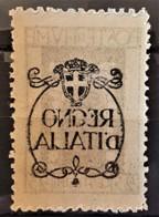 FIUME 1924 - MLH - Sc# 188 - 25c - Var. OVERPRINT FRONT & BACK - 8. Ocupación 1ra Guerra