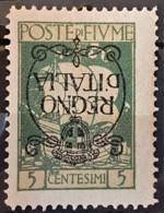 """FIUME 1924 - MLH - Sc# 184a - 5c - """"Regno D'Italia"""" - 8. Ocupación 1ra Guerra"""