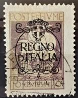 """FIUME 1924 - Canceled - Sc# 185 - 10c - """"Regno D'Italia"""" - 8. Ocupación 1ra Guerra"""