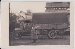Flavigny-sur-Moselle (?) - Carte-photo Poilu Grande Guerre Camion Matériel Militaire Military Army Truck WW1 - France