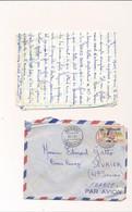 Enveloppe + Lettres Bangui Centrafrique 26 Avril 1961 Par Avion Timbre Tampons Par Avion Haute Savoie - Central African Republic