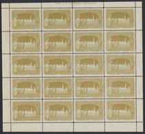 Erinnophilie - Feuille Complète De 20 Vignettes Publicitaire Exposition Bruxelles 1897 (J. - E. Goosens) : Bicolore - Erinnophilie