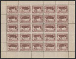 Erinnophilie - Feuille Complète De 25 Vignettes Publicitaire Exposition Bruxelles 1897 (Privé) - Erinnophilie