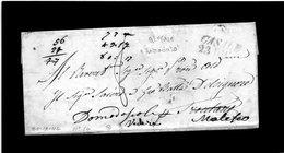 CG20 - Lett. Da Casale X Malesco 23/212/1844 - Bollo Stampatello Inclinato Nero Con Data - Italia