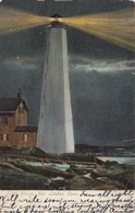 NEW LONDON , Conn. , 1907 ; LIGHTHOUSE At Night - Lighthouses