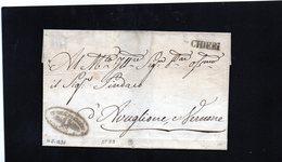 CG20 - Lett.  Da Chieri X Avuglione E Vernone 26/5/1821 - Bollo Stamp. Dir. Nero Senza Data  + Bollo Amm.vo Della Città - ...-1850 Voorfilatelie