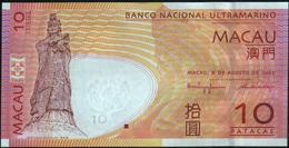 MACAO MACAU - 10 Patacas 08.08.2005 UNC P.80 A - Macao
