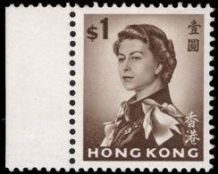 Hong Kong 1962-73 $1 Sepia Unmounted Mint. - Hong Kong (...-1997)