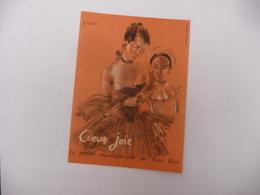Illustration Signée Bérard Carte Coeur Joie  Le Parfum Romantique Par Nina Ricci - Vintage (until 1960)