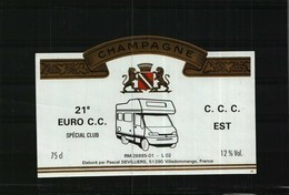 Etiquette    Champagne   21e EURO C.C.  Spécial Club   -  C.C.C. EST - Champagne