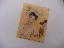 Illustration Signée Bérard Carte Coeur . Joie - Le Parfum Romantique Par Nina Ricci - Vintage (until 1960)