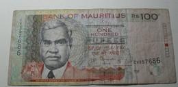 2012 - Maurice - Mauritius - 100 RUPEES, Type Seeneevassen, CV557686 - Maurice
