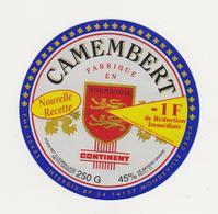ETIQUETTE DE  CAMEMBERT CONTINENT FAB. PAR CLAUDEL 50453 - Cheese