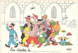 Illustrateur Albert DUBOUT-  EN VISITE - Dubout