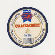 ETIQUETTE DE  CAMEMBERT EUROMARCHE FAB. PAR 50 L CLAUDEL - Cheese