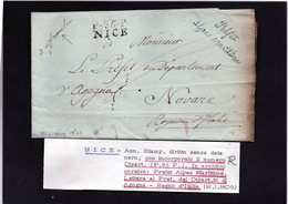 CG20 - Lett. Da Nice X Novara 12/1/1809 - Italia