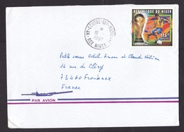 Niger: Airmail Cover To France, 1997, 1 Stamp, World Cup Soccer, Football, Rare Real Use (minor Discolouring At Back) - Niger (1960-...)