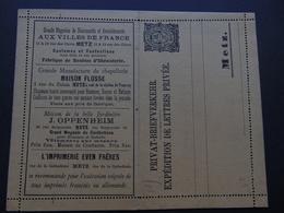 Magnifique Carte-lettre De La Poste Locale De Metz - Utilisation Pendant L'occupation De L'Alsace-Moselle 1870-1918 - Alsace-Lorraine