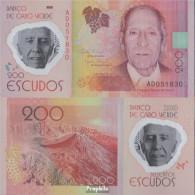 Kap Verde Pick-Nr: 71 Bankfrisch 2014 200 Escudos - Cap Vert