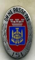 Insigne Du 151 Rgt D Artillerie__delsart - Landmacht