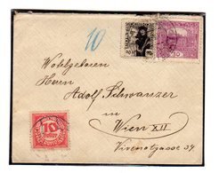 Taxe Sur Lettre De Tchecoslovaquie : Hradcany  Lettre  8/1920 - Taxe