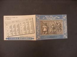 COLLECTION LOTERIE NATIONALE TIRAGE DE LA 5 éme TRANCHE AVRIL 1947 - Loterijbiljetten