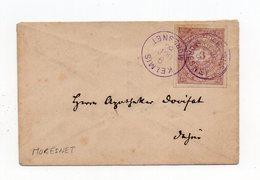 !!! BELGIQUE, POSTE PRIVEE MORESNET SUR LETTRE DE 1886 - Privatpost
