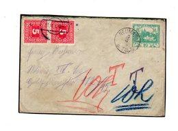 Taxe Sur Lettre De Tchecoslovaquie : Lettre Hradcany  5/6/1919 - Taxe