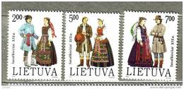 LITHUANIA 1992 Costumes Of Suvalkija MNH Set Mi 511-513 #8778 - Lituanie