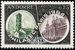 [24] 1964 Andorre Francais Yv 171 Chapelle De Santa Coloma  **MNH  TTB Très Beau  (Yvert&Tellier) - Nuevos