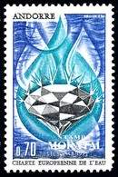 [24] 1969 Andorre Francais Yv 197 De L'eau  **MNH  TTB Très Beau  (Yvert&Tellier) - Nuevos