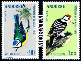 [24] 1973 Andorre Francais Yv 232/233 Les Oiseaux  **MNH  TTB Très Beau  (Yvert&Tellier) - Nuevos