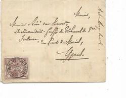 SH 0379. N° 73 WULVERINGHEM 30 SEPT 1897 S/Lettre V. Ypres - Au Dos YPRES 30 SEPT. TB - 1894-1896 Tentoonstellingen