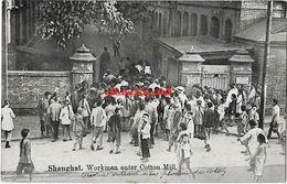 Shanghai - Workmen Enter Cotton Mill - 1931 - China