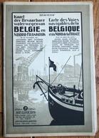 - GRANDE VIEILLE CARTE DE VOIES INTERIEURES NAVIGABLES BELGIQUE ET NORD DE LA FRANCE  - AVEC DEPLIANT - RARE  70 X 100 - Maps