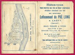 Document Publicitaire Des Années 1920 - Lagny Sur Marne - Lotissement Du Pré Long - Hâtez Vous ! - Publicités