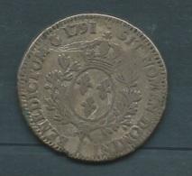 France, Louis XVI, Écu Aux Branches D'olivier,1791, ETAT B  -    Pieb228 - 1789-1795 Period: Revolution