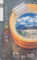 Télécarte Ancienne JAPON / NTT 390-061 - Plage Bateau Voilier Bouée TBE - Beach & Ship JAPAN Front Bar Phonecard - Boats