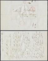 BELGIQUE LETTRE DATE DE OIGNIES CACHET DE CHATELET 23/01/1847 VERS FONTENE L EVEQUE (DD) DC-7316 - 1830-1849 (Independent Belgium)