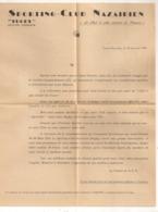 1947 LETTRE DU SPORTING CLUB NAZAIRIEN / RUGBY / COMMANDO BRITANNIQUE SAINT NAZAIRE    C216 - Rugby