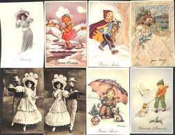 Fantaisie - Petit Lot 16 Cartes (femme Animaux Animée .... Voir Scans) (P-002) (petit Prix) - Fancy Cards