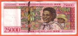MADAGASCAR - 25000 Francs / 5000 Ariary  De 1998 - Pick 82 - Madagascar