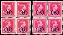 Belgium SV 0029/29a** 1F Blocs De 4 MNH - Neufs
